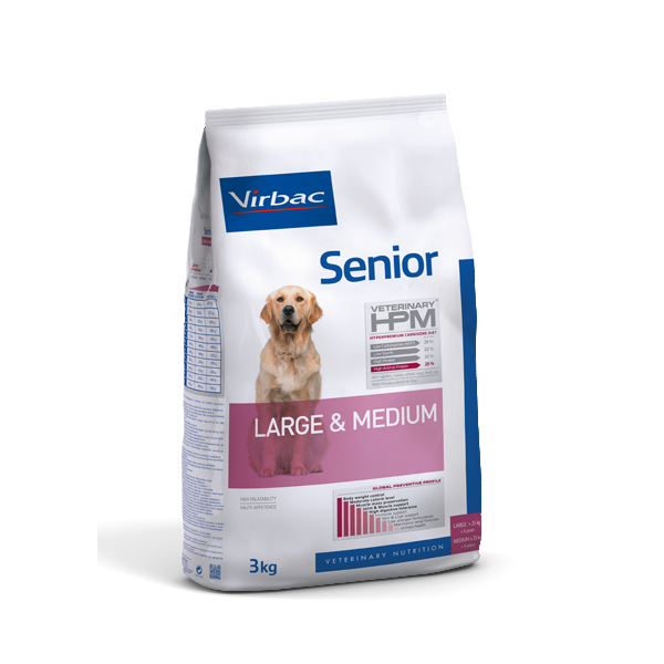 VIRBAC Veterinary - HPM DOG Senior Large  Medium noszanimos