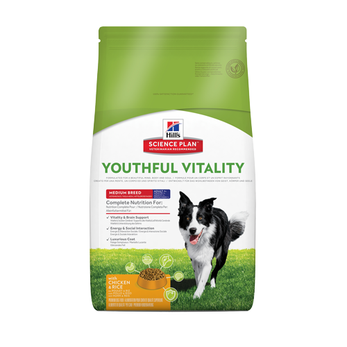 hills science plan -canine-adult-7+-youthful-vitality-medium-breed poulet et riz noszanimos
