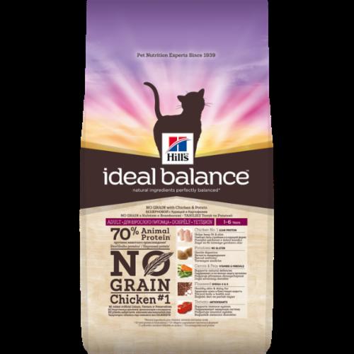 Hills Ideal Balance - Chat Adult No Grain - Poulet noszanimos
