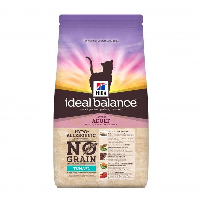 Hills Ideal Balance - Chat Adult No Grain- Thon noszanimos