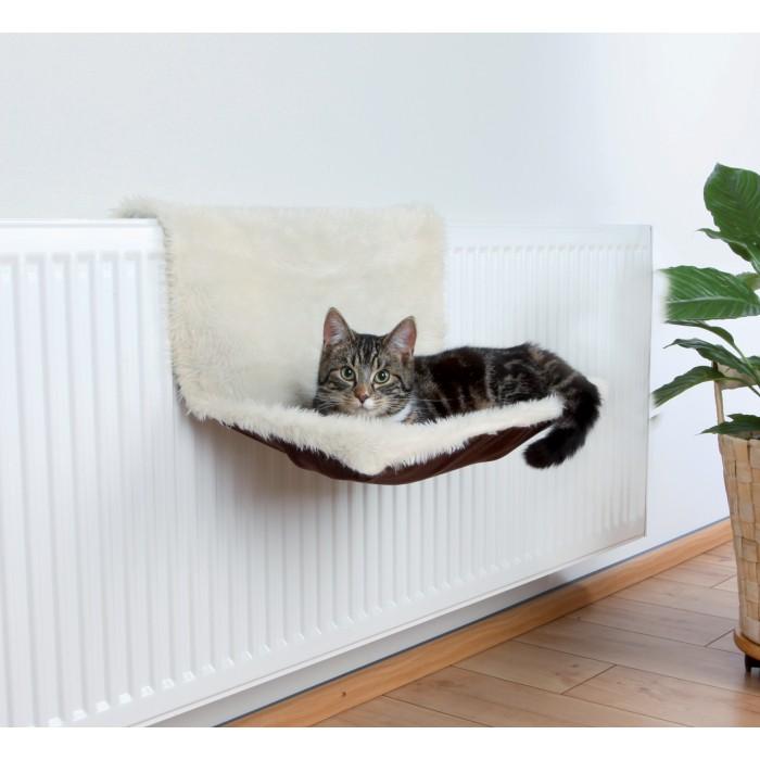 trixie Lit radiateur, peluche long poil aspect suédine noszanimos