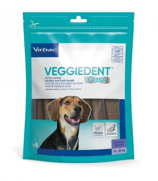 VIRBAC - Lamelles Dentaires VEGGIEDENT pour chien