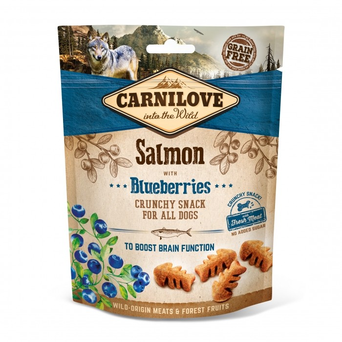 Carnilove crunch-snack-saumon-et-groseille 200g noszanimos