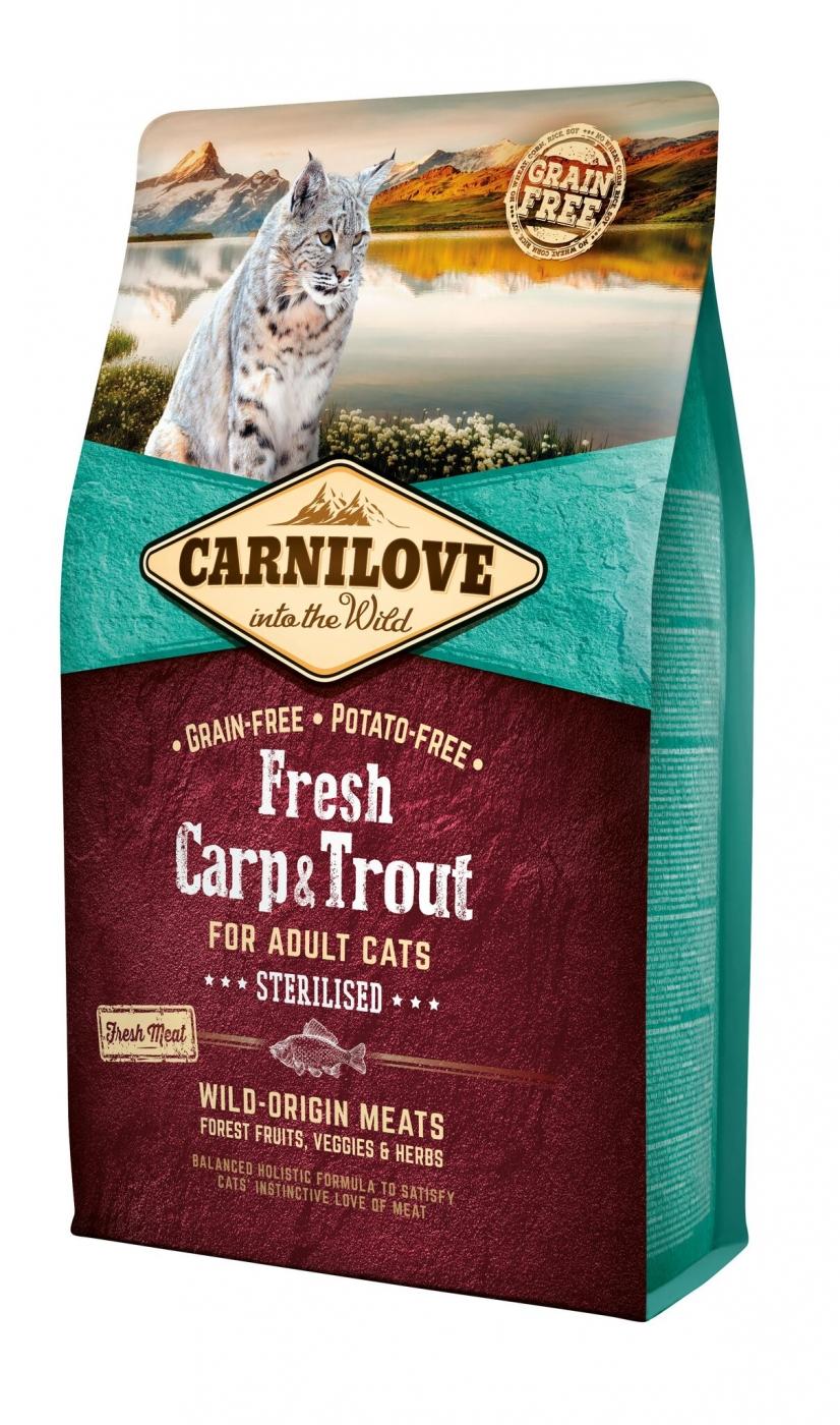carnilove-adult - carpe et truite 6kg noszanimos
