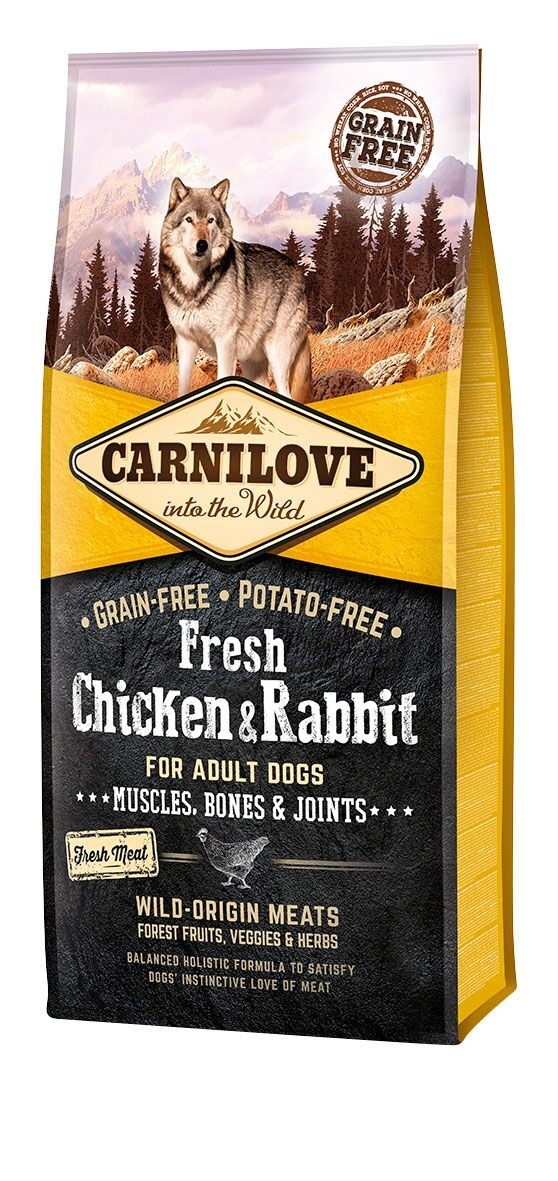 Carnilove FRESH Chicken & Rabbit pour Chien Adulte noszanimos