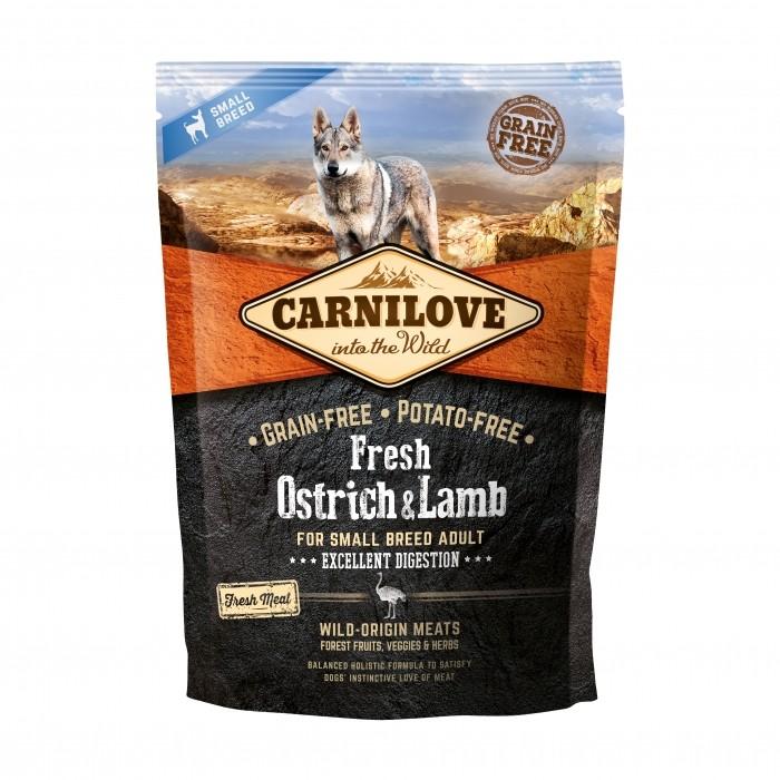 CARNILOVE Fresh Adult small Autruche & Agneau noszanimos