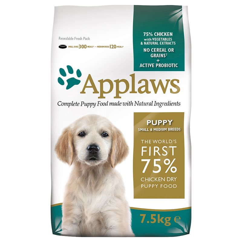 Applaws Puppy Small & Medium Breed, poulet pour chien