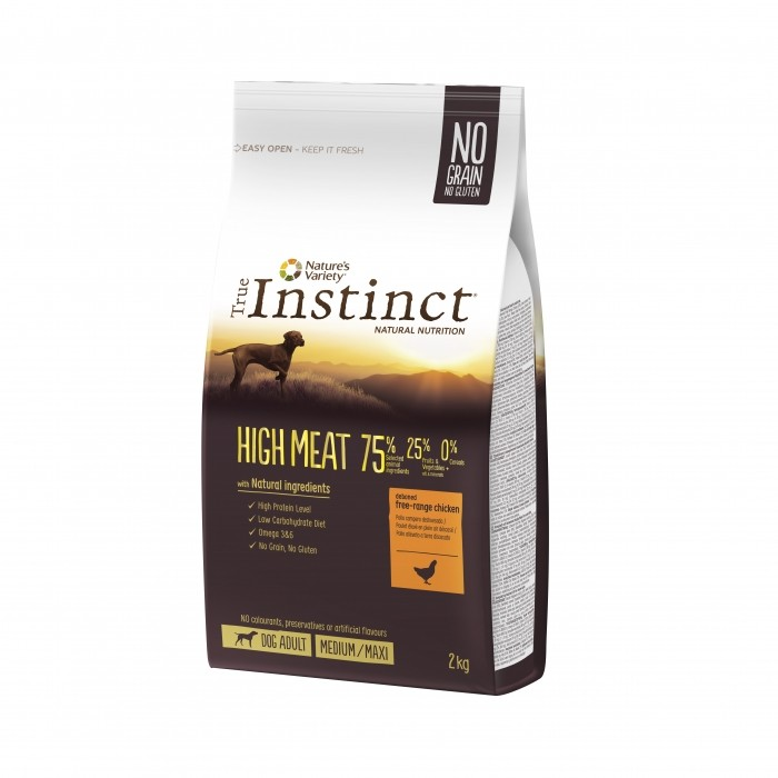 True Instinct High Meat Medium Maxi Adult Poulet 2kg noszanimos