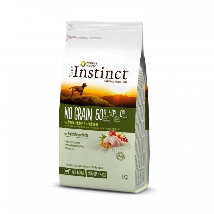 True Instinct No Grain - Medium Maxi Adult - poulet 2kg noszanimos