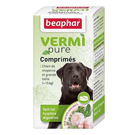 beapher VERMIpure, comprimés aux plantes chien (15kg) noszanimos