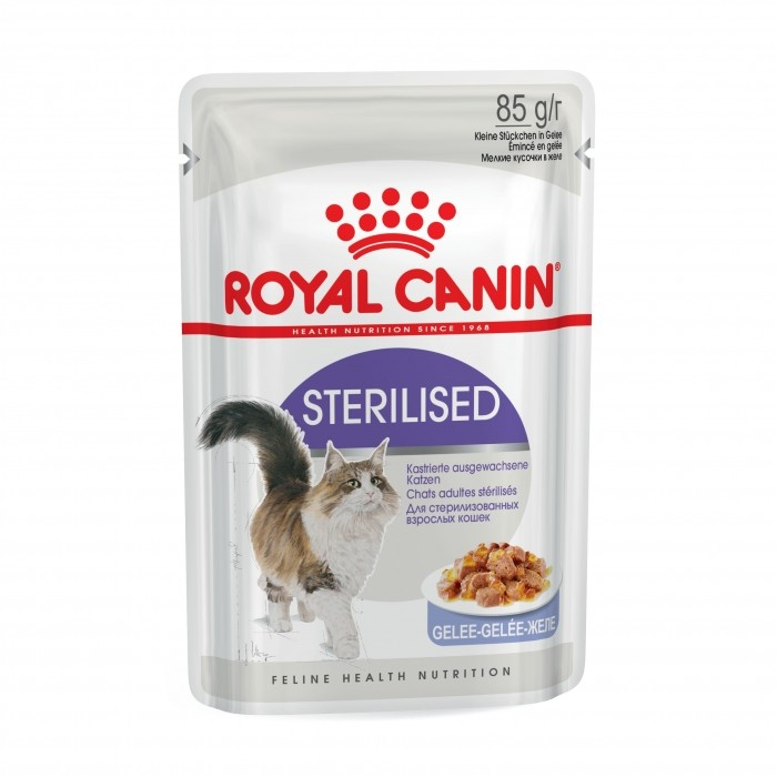 Royal Canin Sterilised en gelée - Lot 12 x 85g