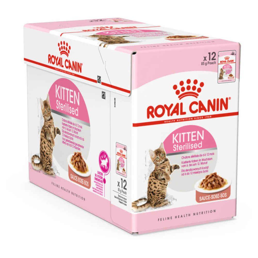 Royal Canin Kitten Sterilised en sauce - Lot 12 x 85g