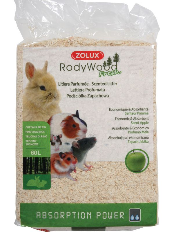 Zolux-Litière Rodywood Pomme 60L