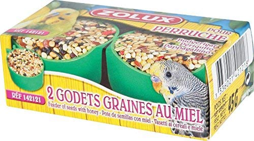 zolux godet graines au miel perruches