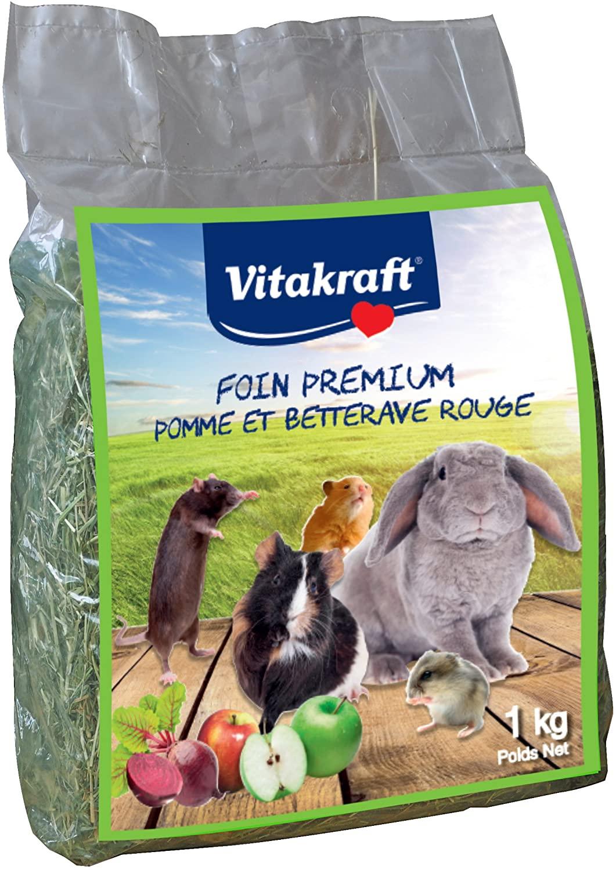 Vitakraft Foin à la pomme et à la betterave rouge pour rongeurs - 1 kg