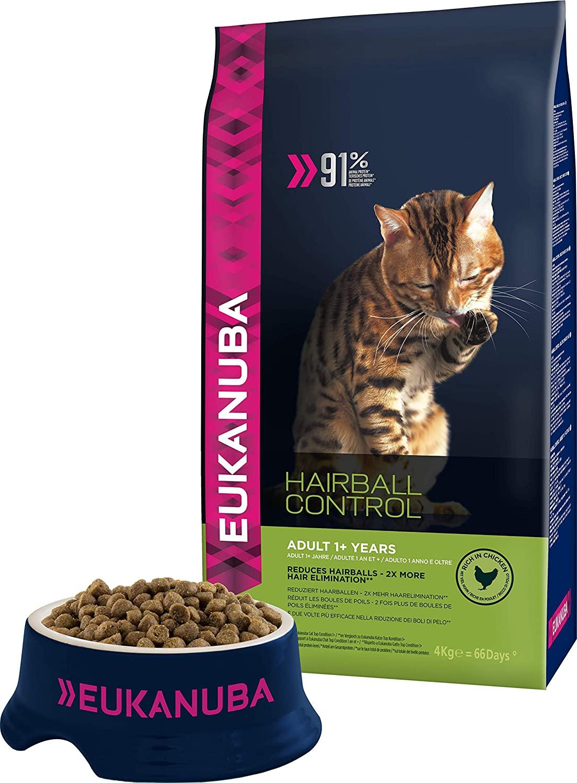 Croquettes Eukanuba pour chat adulte boule de poils