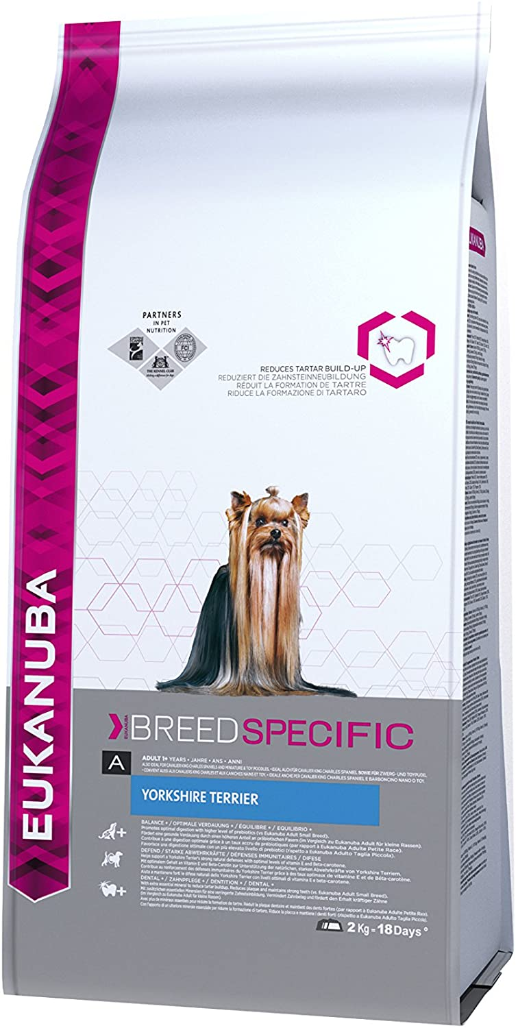 Eukanuba - Croquettes Breed Select chien Adult  Yorkshire Terrier 2kg