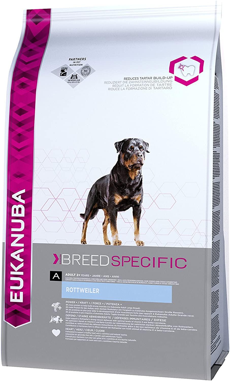 Eukanuba Croquettes Breed Specific pour Chien Adult  Rottweiler Poulet 12kg