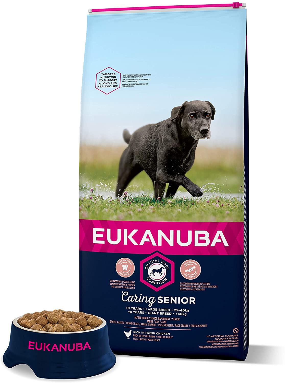 Eukanuba Croquettes pour Chien Senior Grande Taille  Poulet - 15kg
