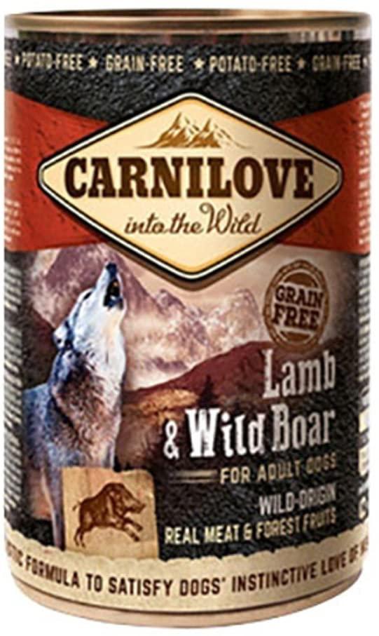 Carnilove Boite pour chien Adult Agneau et Sanglier   400 gr
