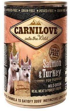Carnilove Boite pour chien Adult Saumon et Dinde  400 gr