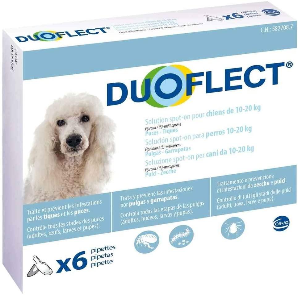 Duoflect - 6 Pipettes Antiparasitaire pour chien de 10 à 20Kg noszanimos