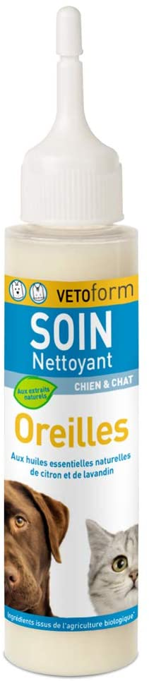 VETOFORM - Soin Nettoyant Oreilles pour chien et chat