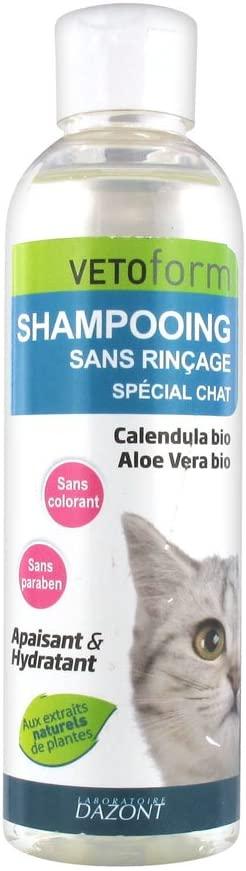 VETOFORM - Shampoing sans Rinçage Spécial pour Chat - 200ml