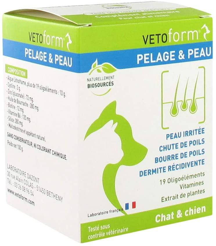 VETOFORM - Complément alimentaire - Pelage et Peau pour chien et chat