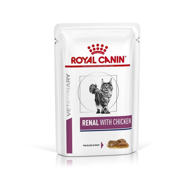 Royal Canin Veterinary diet cat renal poulet mousse - Sachets 12x85g