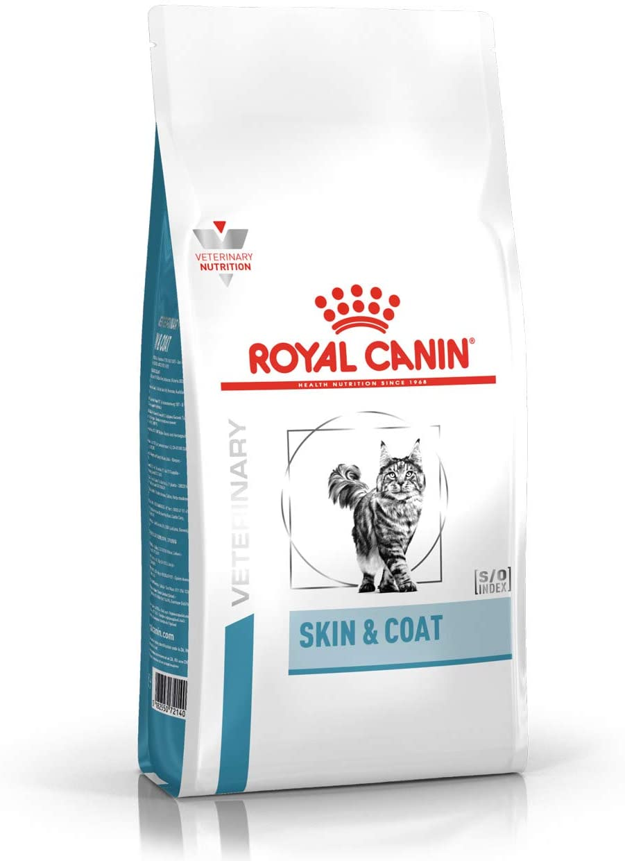 Croquettes Royal Canin Veterinary diet cat skin coat