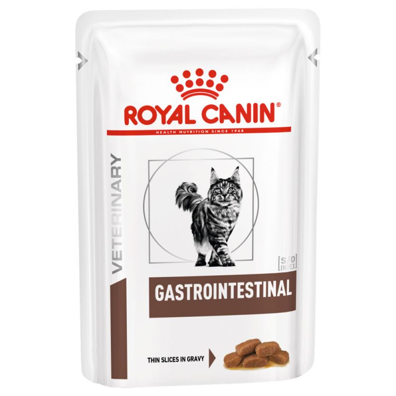 Royal Canin Veterinary Diet Gastro Intestinal - Sachets pour chat - 12 x 85g