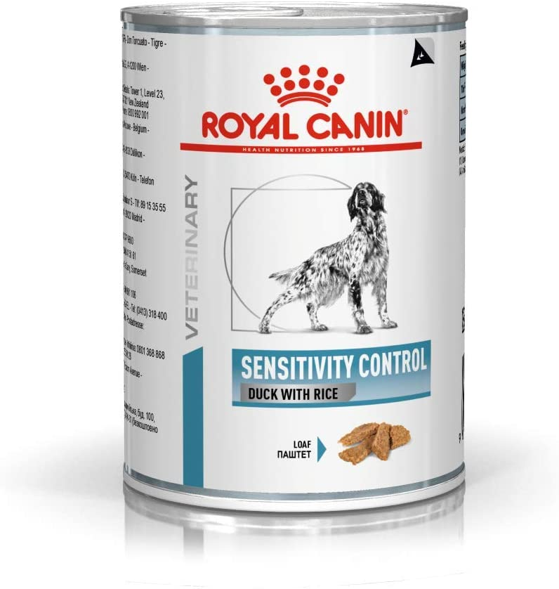 Royal Canin Veterinary diet dog sensitivity canard - 12 Boites 410g