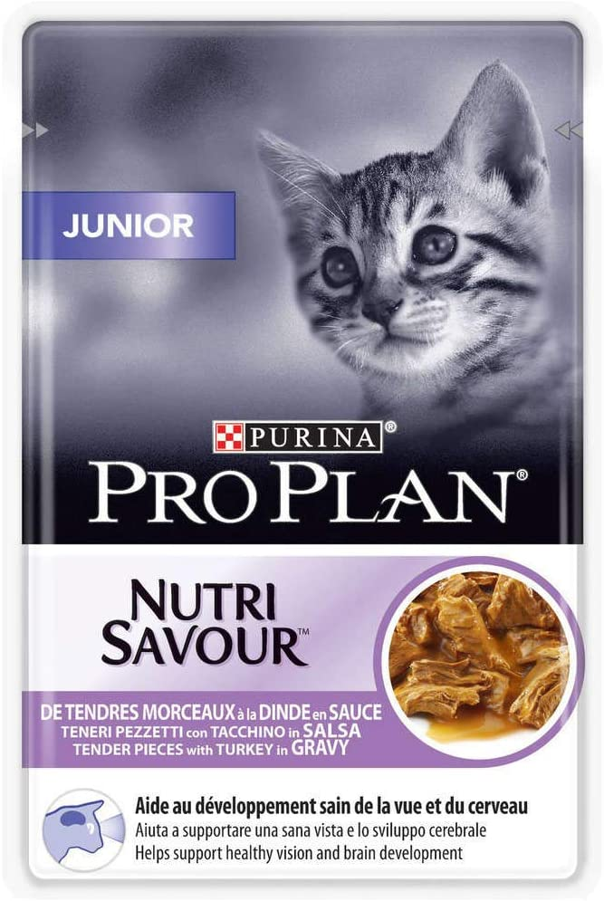 Purina ProPlan Sachets pour Chat Nutrisavour Junior Dinde 24x85g