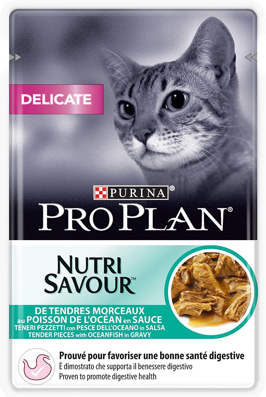 Purina ProPlan Sachets pour Chat Nutrisavour Junior Poisson 24x85g