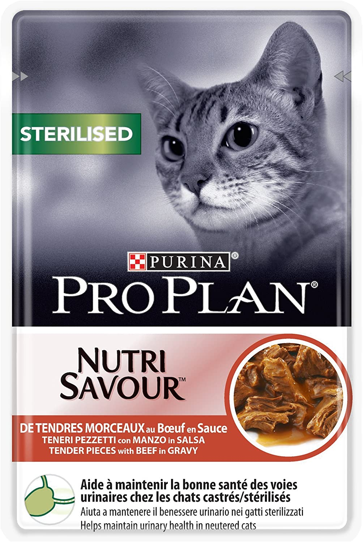 Purina Proplan Sachets pour Chat Nutrisavour Junior Boeuf 24x85g