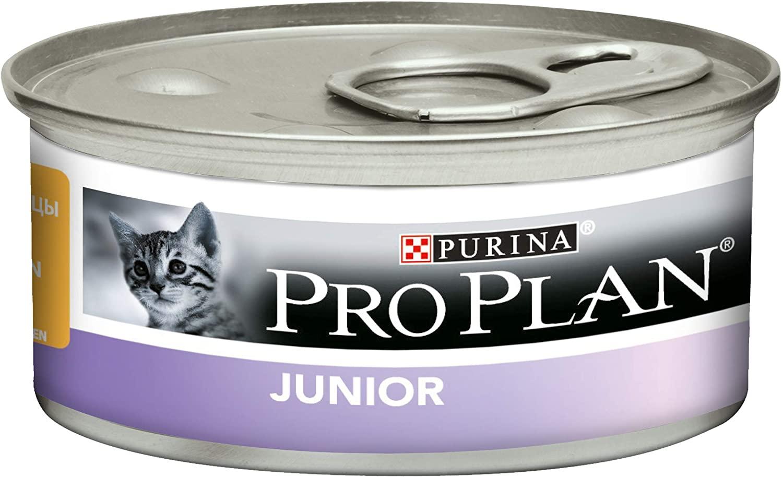 Purina ProPlan JUNIOR - Mousse  Poulet - 24 Boites 85g NosZanimos