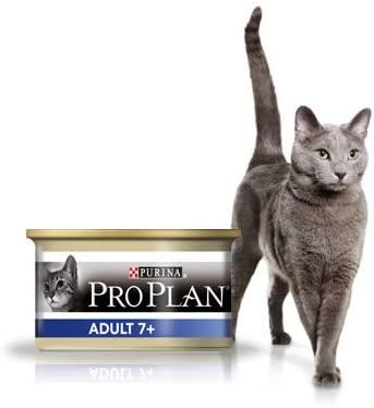 Purina ProPlan Adult 7+ pour Chat Adult au Thon - 18x85g + 6 boŒtes gratuites