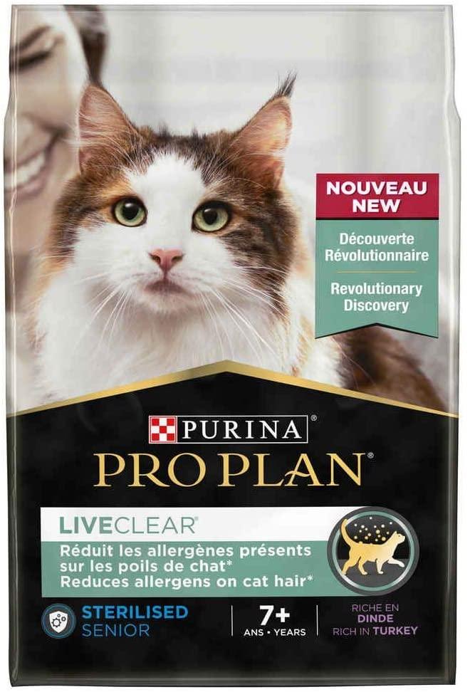Purina ProPlan - Croquettes LiveClear Senior +7 Stérilisé Dinde - 2,8Kg