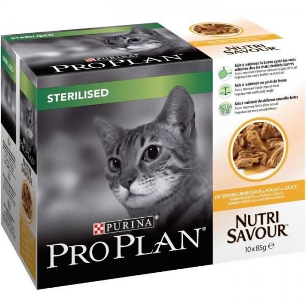Purina Proplan Sachet Nutrisavour Chat St'rilis' - Poulet - 2x10x85g