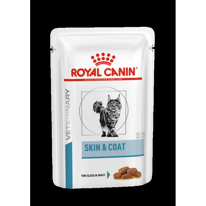 Royal Canin Veterinary diet cat skin coat - Sachets 12x85g