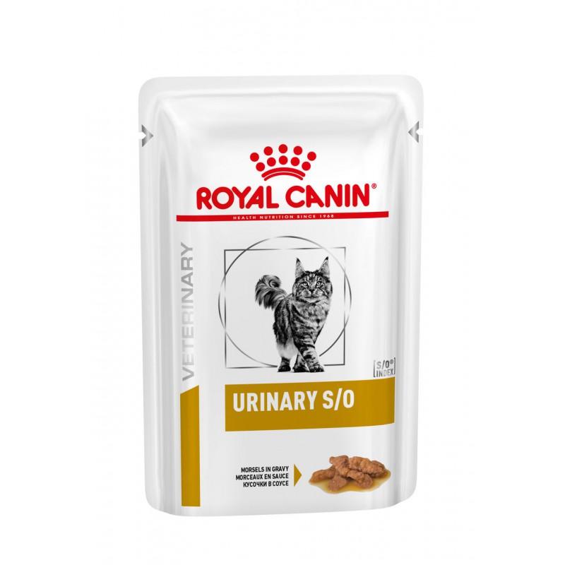 ROYAL CANIN Veterinary Diet - Urinary S/O Boeuf - 12 Sachets de 100g