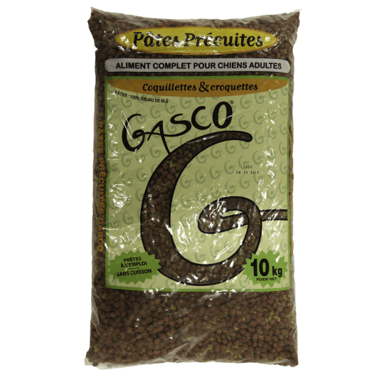GASCO-Pates coquillettes et croquettes 10 kg
