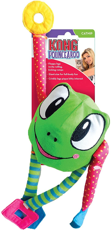 KONG cat pouncearoo frog