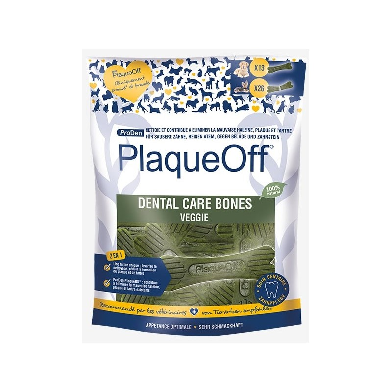 ProDen PlaqueOff - Os à mâcher Dental Care Bones Veggie 485 g NosZanimos