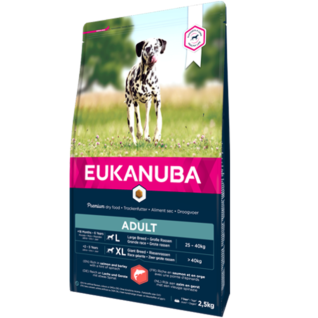 Eukanuba - Croquettes Chien Adult Grande Race - Saumon & Orge