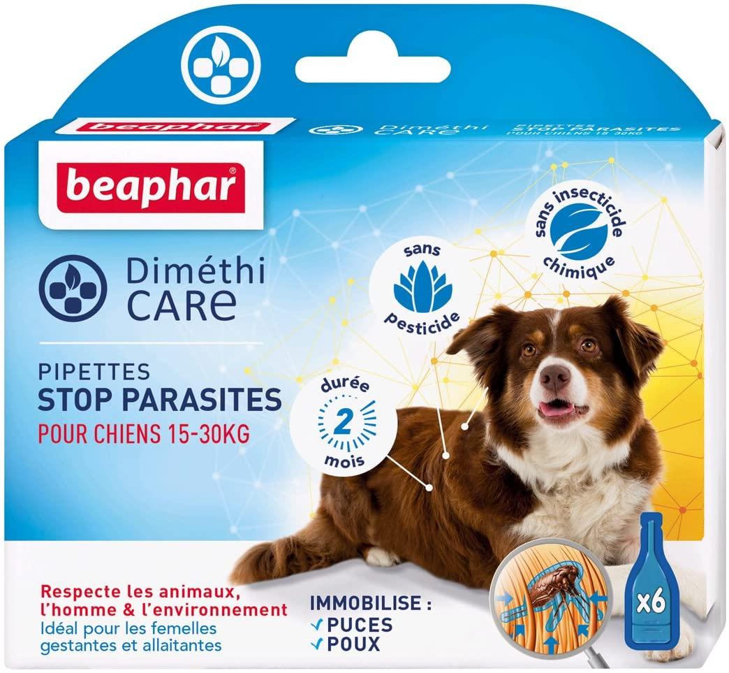 BEAPHAR – DIMÉTHICARE – Pipettes stop parasites pour chien moyen 15-30 kg