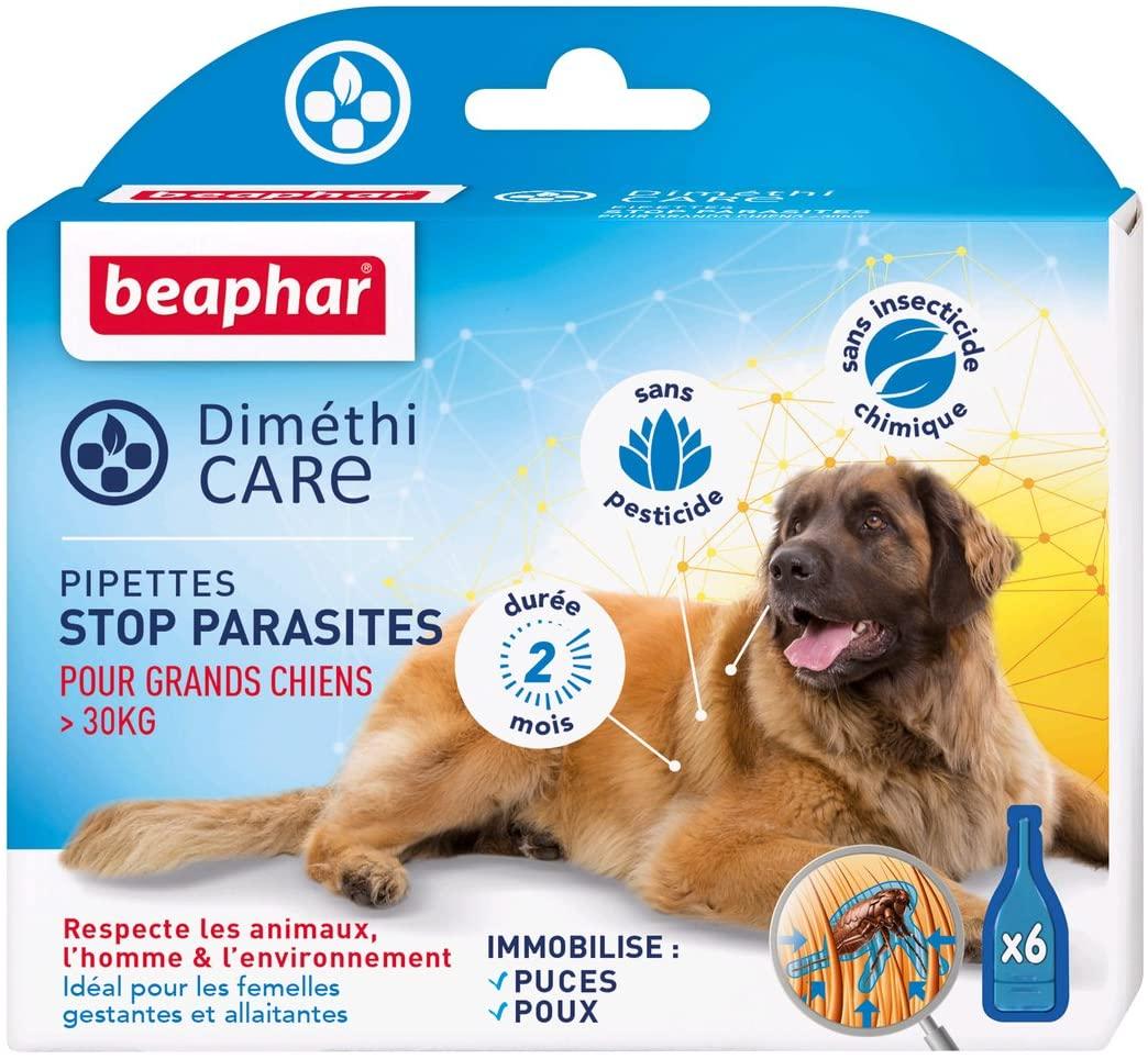BEAPHAR – DIMÉTHICARE – Pipettes stop parasites pour Grand Chien - >30kg