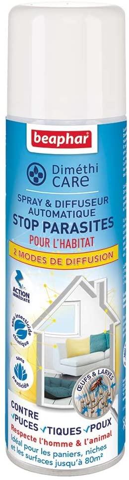 Beaphar – DIMETHICARE – Spray et diffuseur automatique pour l'habitat