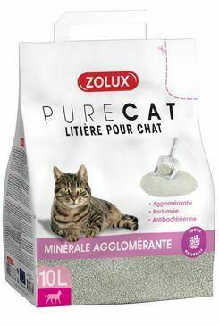 Zolux-Litière Pure Cat agglomérant parfumée antibactérienne - 10L